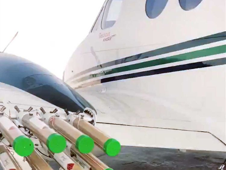 The aircraft that's conducting cloud seeding in the UAE right now