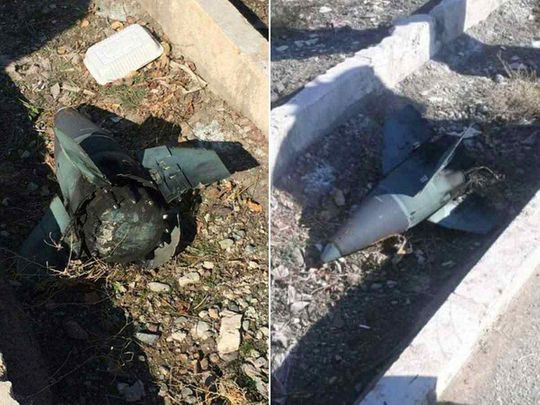 Unverified pictures of missile debris, supposedly from near the crash site of PS752, shared by Elicot Higgins on Twitter