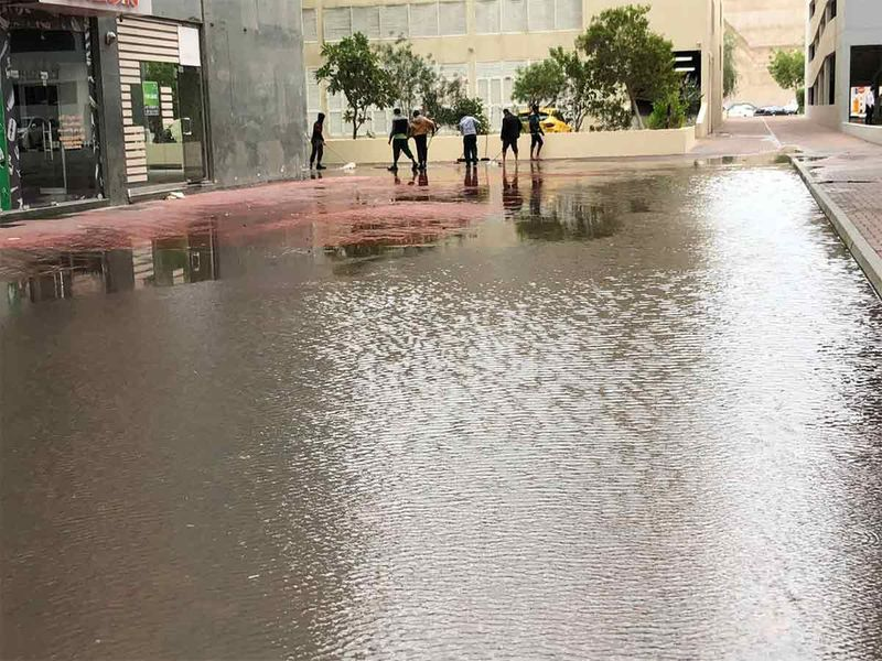 Water logging in parts