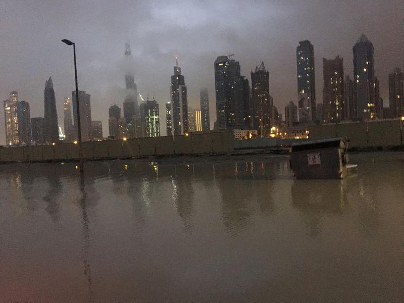 Rain waterlogged Dubai