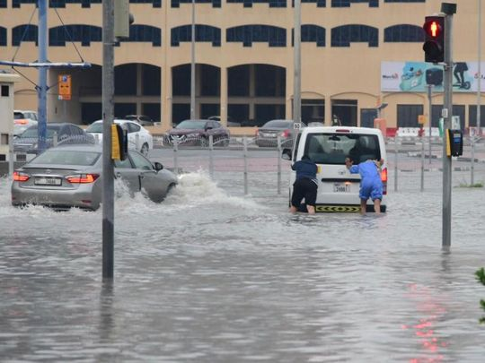 Rain waterlogged Dubai