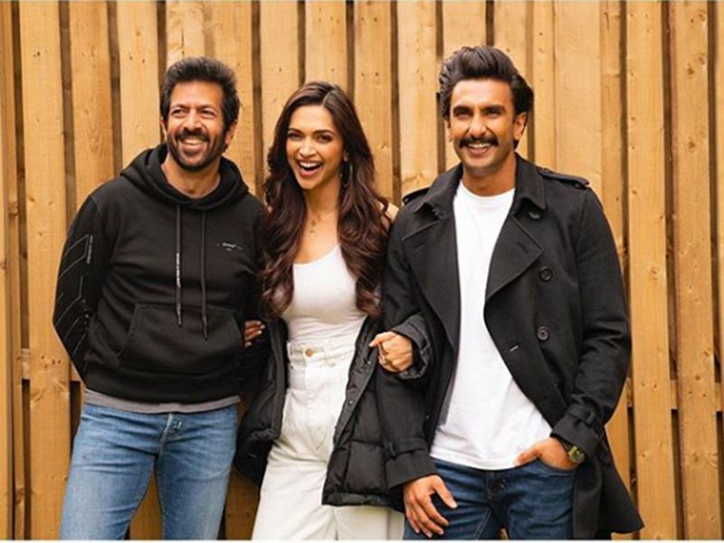 Kabir Khan with Deepika Padukone and Ranveer Singh