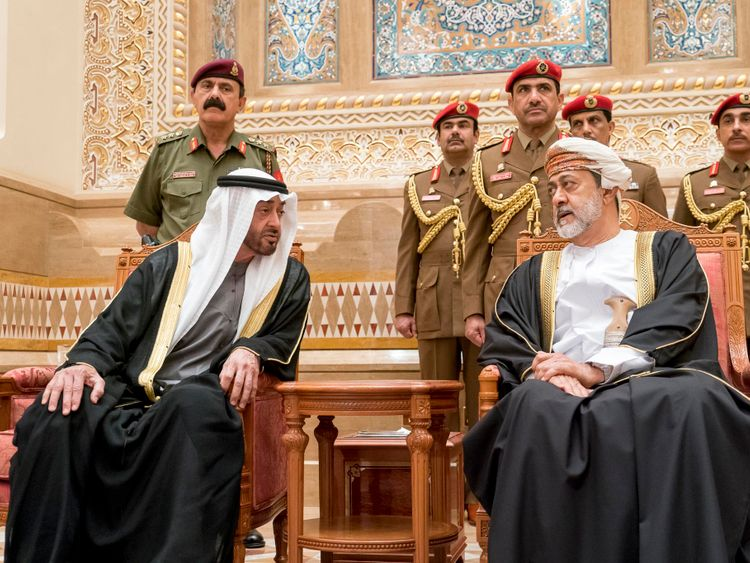 Mohamed Bin Zayed in Oman