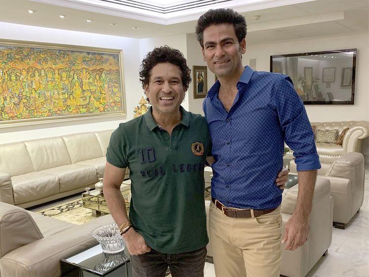 Sachin Tendulkar  with Mohammad Kaif