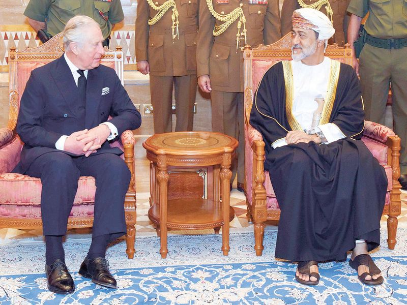 Sultan Haitham receives Britain's Prince Charles in Muscat