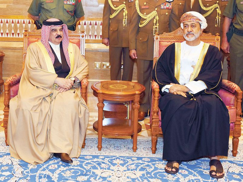 Sultan Haitham receives King Hamad Bin Eisa Al Khalifa of Bahrain