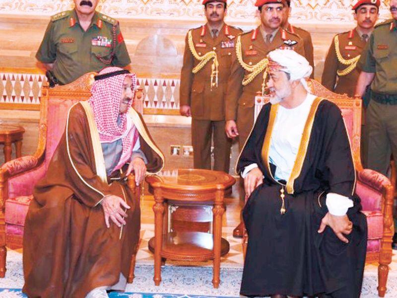 Sultan Haitham receives Shaikh Sabah Al Ahmad Al Jaber