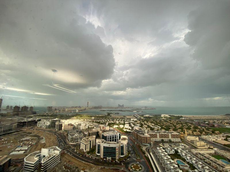 rain hail in Dubai