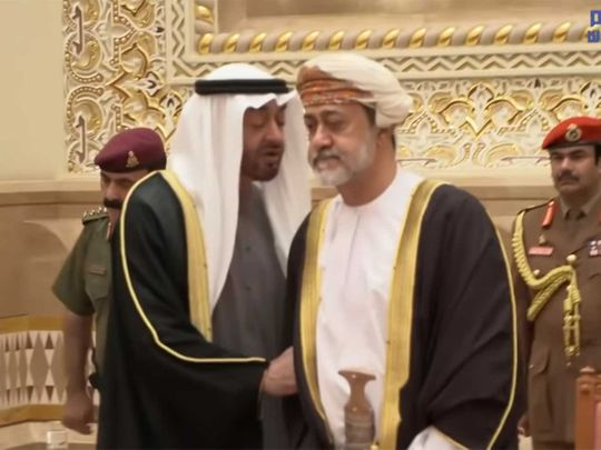 20200113_sheikh Mohammad bin zayed with Sultan Haitham