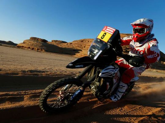 Hero Motosports Team Rally's Paulo Goncalves during stage 5