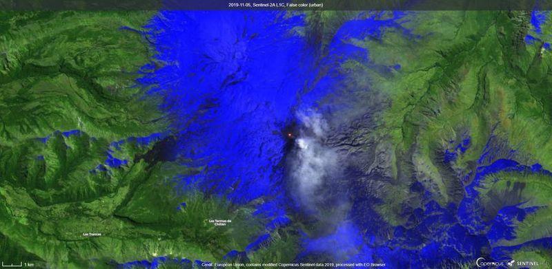 Nevados de Chillán volcano.