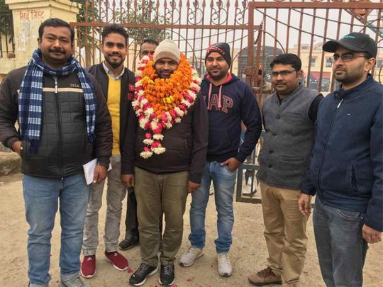 Robin Verma was released from Lucknow jail Tuesday morning