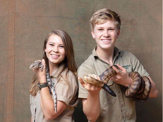 Bindi Irwin with her brother Robert Irwin.