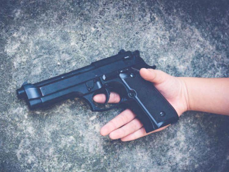 pistol, gun, shoot