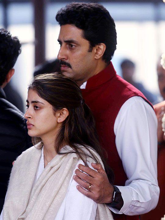 Abhishek Bachchan with niece Navya Nanda.