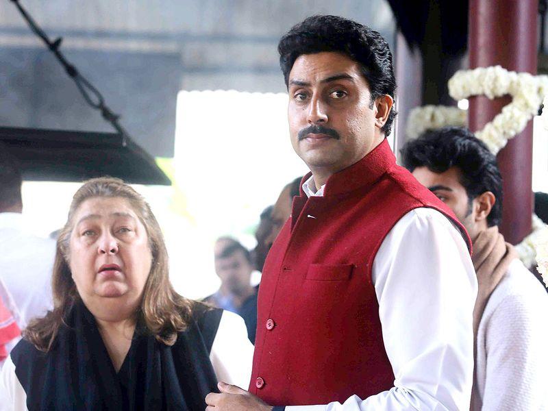 Bollywood actor Abhishek Bachchan with Reema Jain.