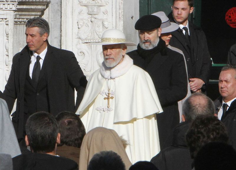 John Malkovich and Javier Cámara in The New Pope (2020)-1579066609739