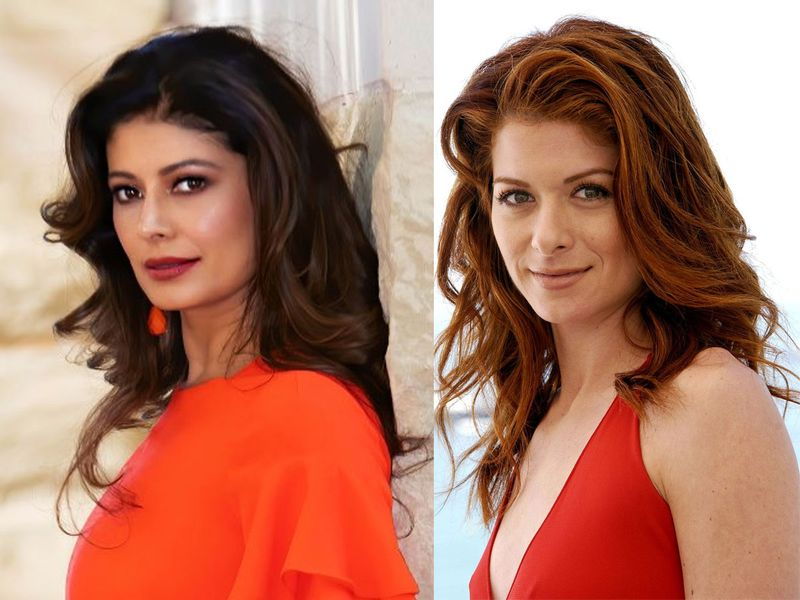 Pooja Batra and Debra Messing