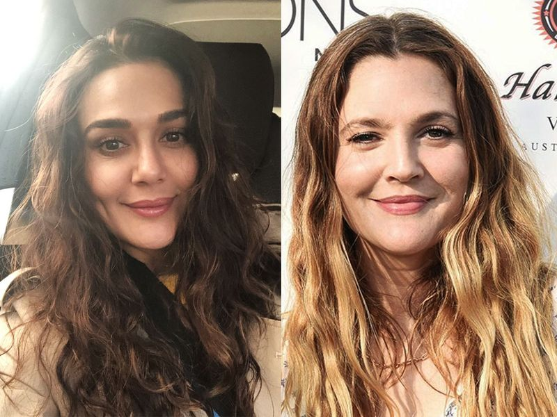 Preity Zinta and Drew Barrymore