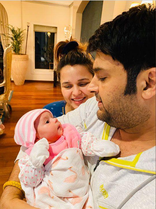 Kapil Sharma with wife Ginni Chatrath' daughter Anayra.