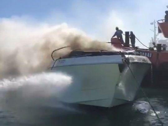 Fire Yacht Burj Al Arab