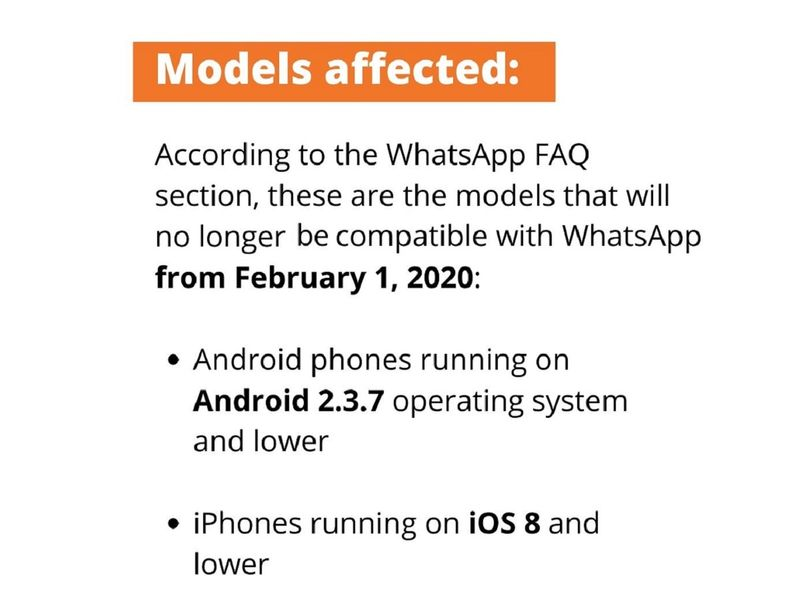 Android and iOS whatsapp