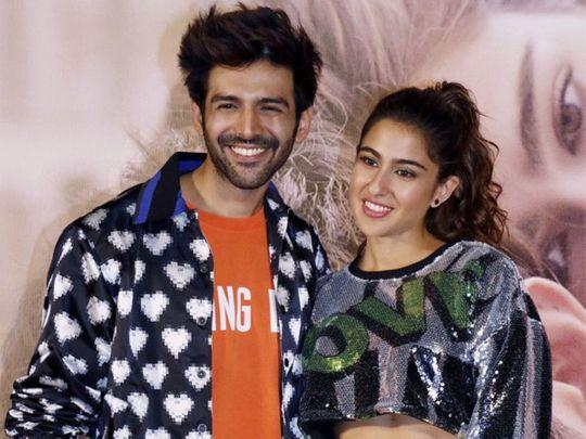 Kartik Aaryan with Sara Ali Khan