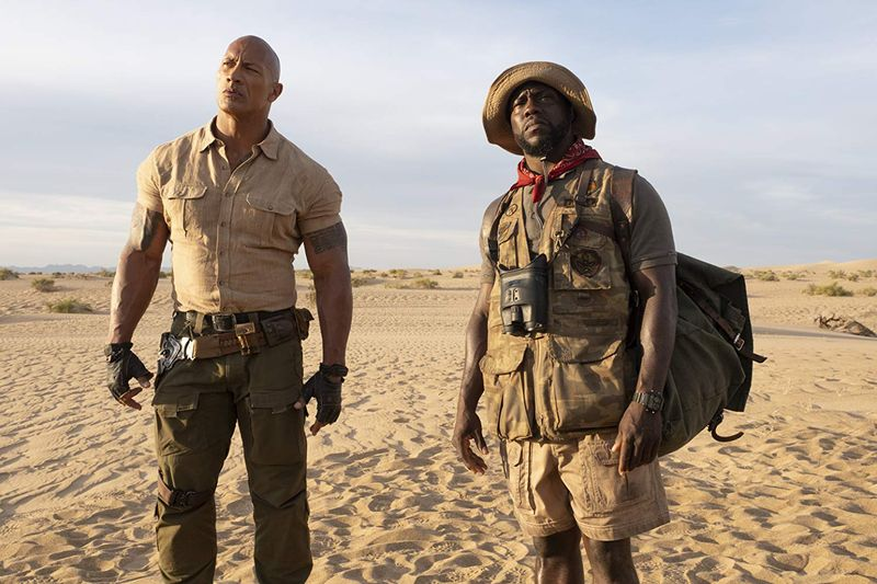 Kevin Hart and Dwayne Johnson in Jumanji The Next Level (2019)-1579443004102