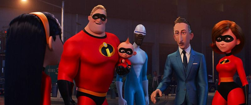 Samuel L. Jackson, Holly Hunter, Craig T. Nelson, Bob Odenkirk, Sarah Vowell, Eli Fucile, and Huck Milner in Incredibles 2 (2018)-1579443021160