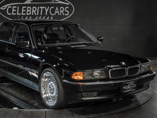 The BMW 7 Series in which US rapper Tupac Shakur was fatally shot is up for sale...