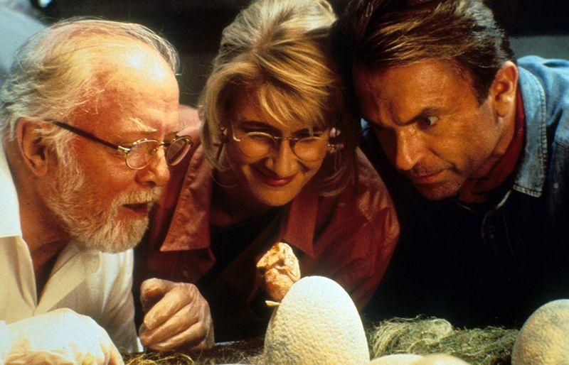 Richard Attenborough, Laura Dern, and Sam Neill in Jurassic Park (1993)-1579583274771
