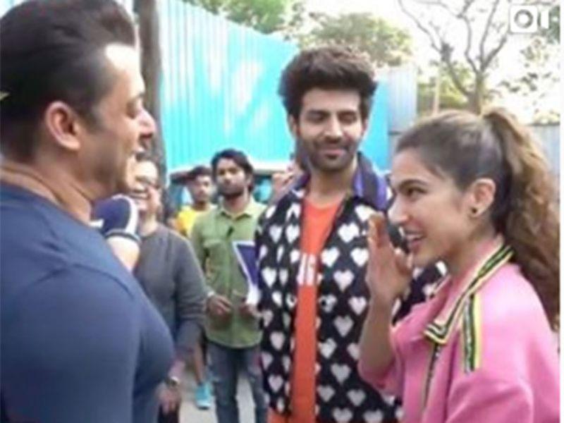 Salman Khan, Sara Ali Khan, and Kartik Aaryan