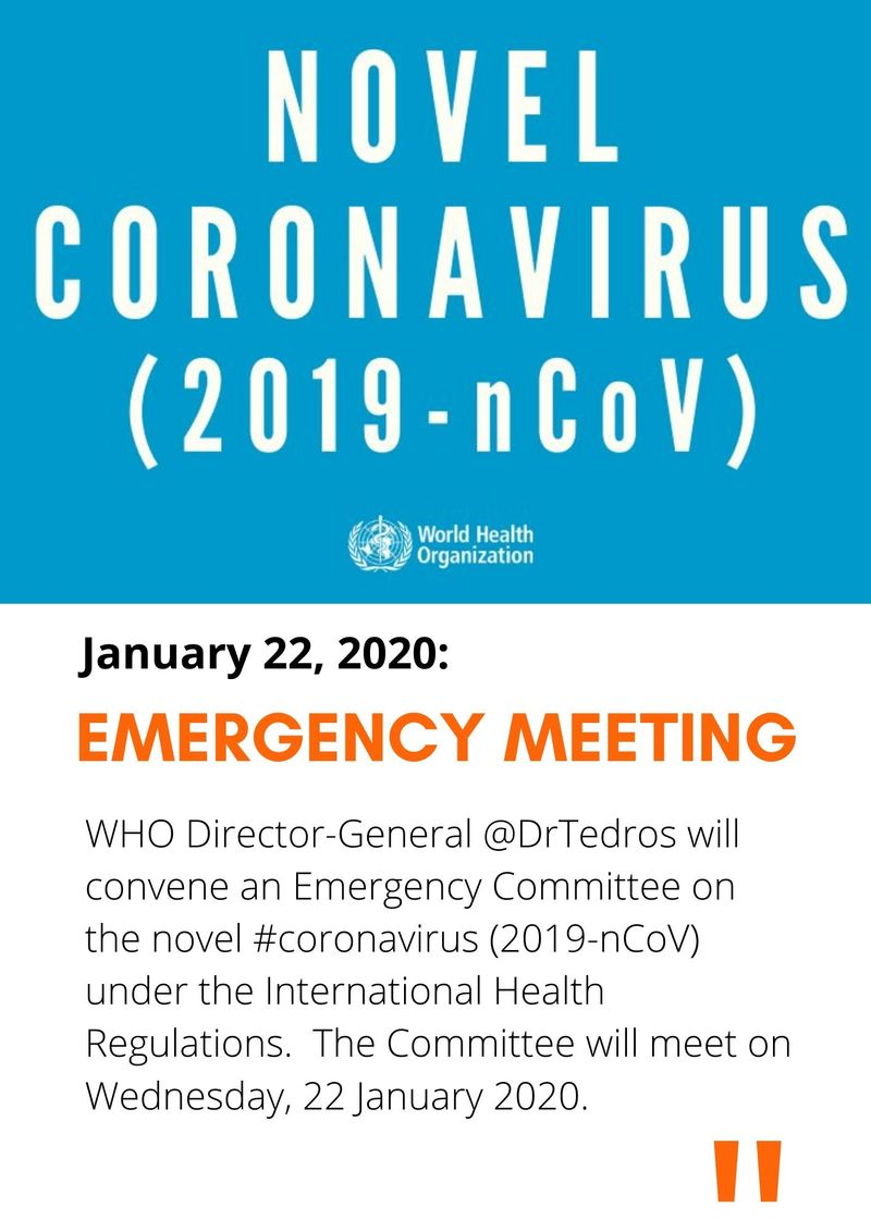 WHo meeting Coronavirus