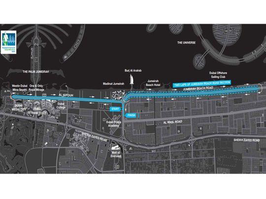 Dubai Route Map