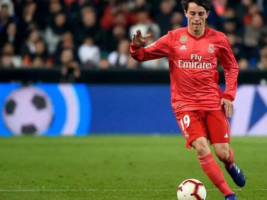 Real Madrid right-back Alvaro Odriozola