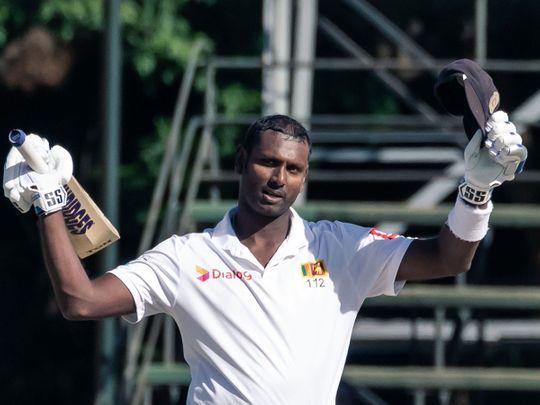 Sri Lanka's batsman Angelo Mathews
