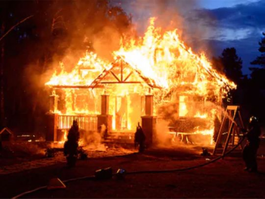 Two killed as jilted lover set afire house in Andhra
