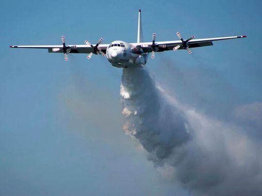 A C-130 Hercules plane called