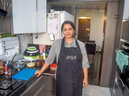 Home chef Rashmi Sahijwala at her kitchen in Mumbai.
