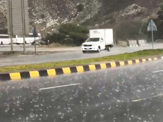 Rain in Fujairah