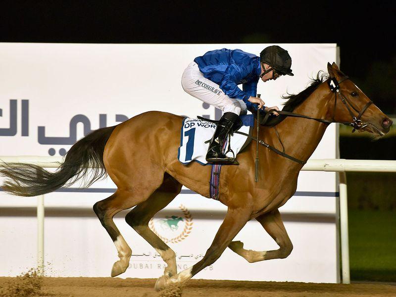 Saeed Bin Surour's Dubai Love wins the UAE 1,000 Guineas.