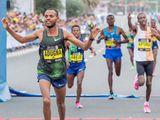 Olika Adugna Bilika from Ethiopia wins men's race.