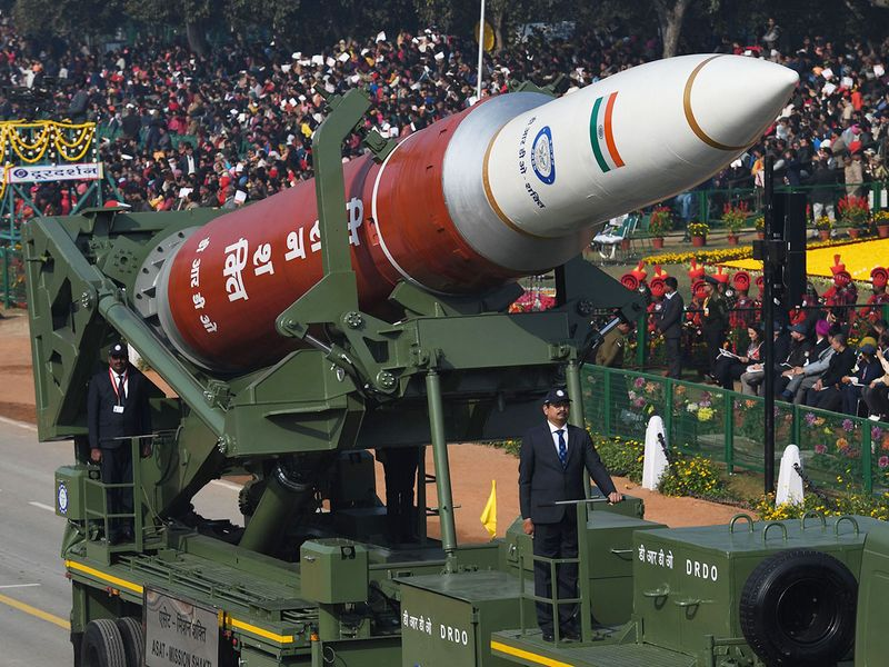 A DRDO anti-satellite weapons (ASAT) 'Mission Shakti' is being marched past along Rajpath during the Republic Day parade in New Delhi on January 26, 2020.