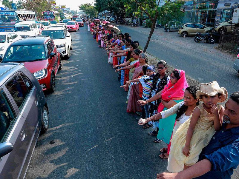 Kerala human chain2