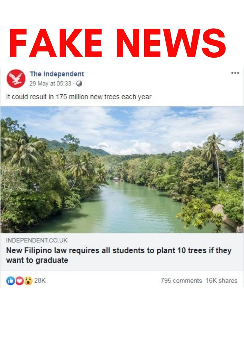 FAKE NEWS TREE PLANTING BILL PHILIPPINES