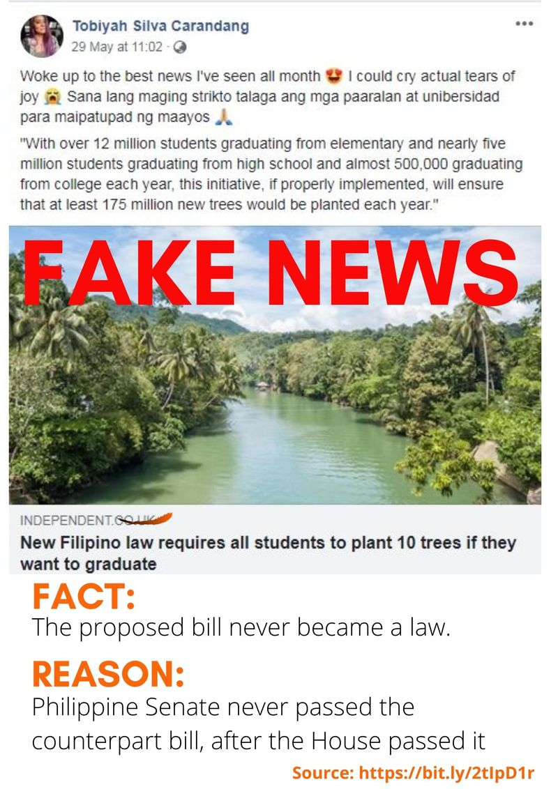 Fake news FB tree planting Philippines