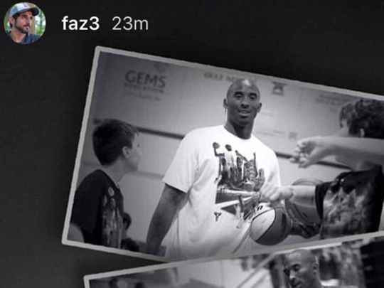 Kobe Bryant, shared by Sheikh Hamdan
