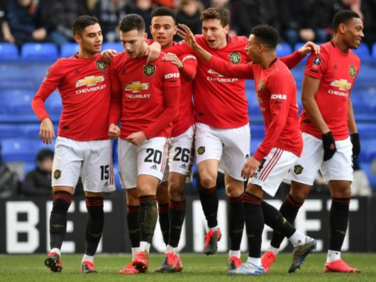 Manchester United put six goals past Tranmere.