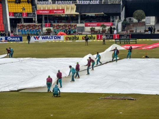 Persistent rain forced the authorities to call off the game between Pakistan and Bangladesh.