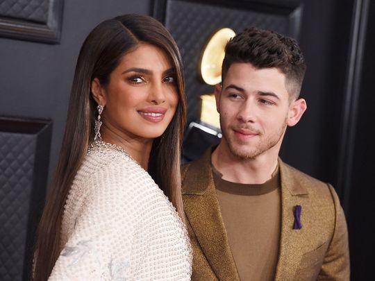 Priyanka Chopra, left, and Nick Jonas